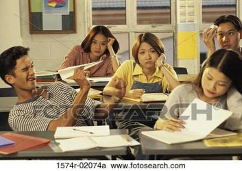 bored students classroom clipart 1574r fotosearch