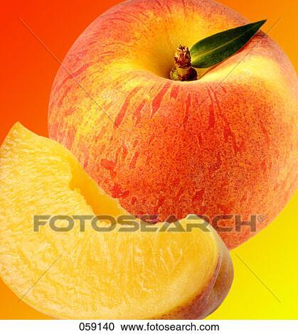 stock of peach & slice