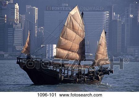Chinese Junk, Hong Kong, China Stock Image | 1096-101 | Fotosearch