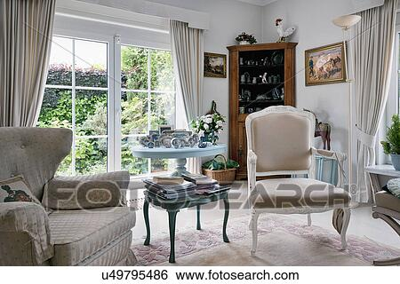traditional armchairs for living room real wood furniture stock images of mismatched in