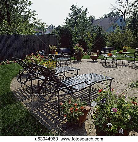 patios rounded concrete patio with