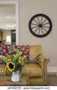 Stock Photography of LIVING ROOMS: modern country ...