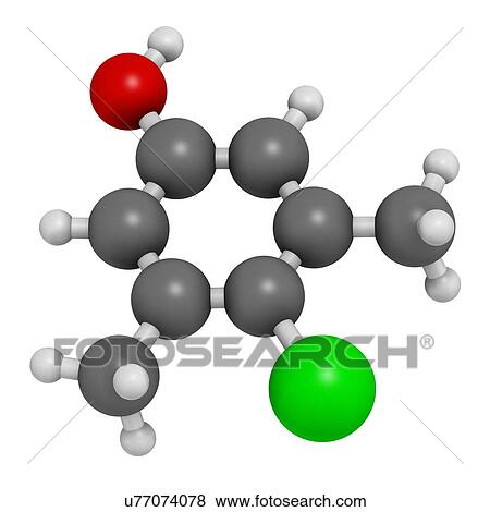 Chloroxylenol. antiseptisch. molekül Stock Illustration | u77074078 | Fotosearch