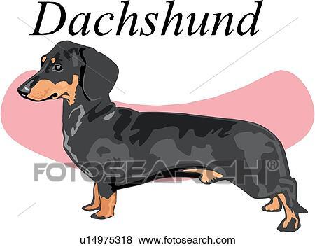 clip art of dachshund u14975318