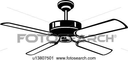 Decke ventilator Clipart u13807501