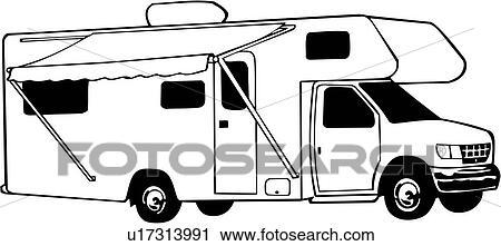 Clipart of , camper, mini, motorhome, recreation