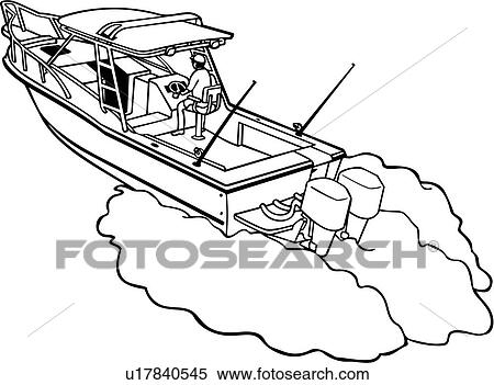 , boat, fishing, power, power boat, shore, sport, motor