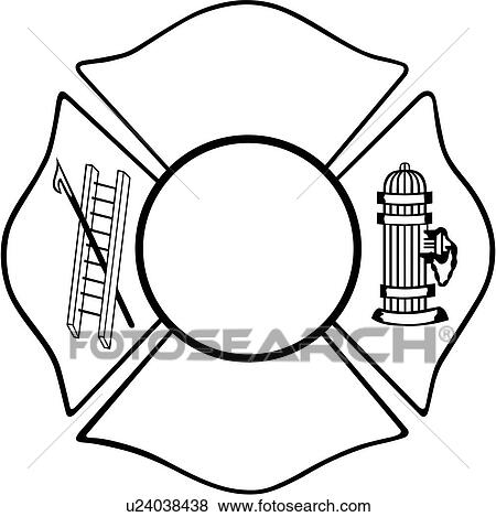 Clip Art of , chief, cross, department, emergency