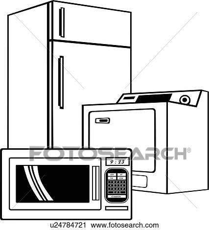 Clipart of , appliance, business sign, elements, microwave