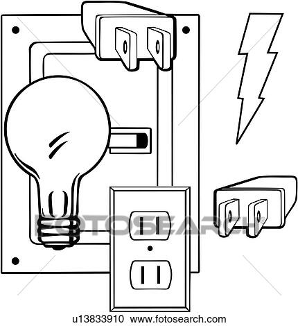 Clipart of , business signs, electric, elements