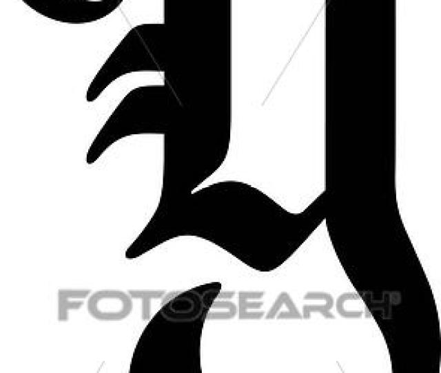 Alphabet Old English Capital Letter Lettered Uppercase Y