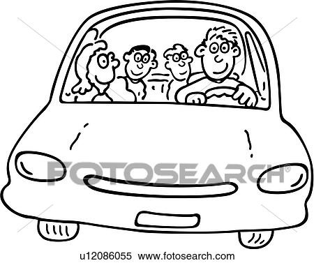 Clipart of , cartoons, child, children, dad, daddy, drive