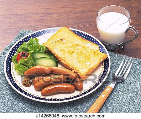 Pictures of French Toast and Sausage Breakfast High