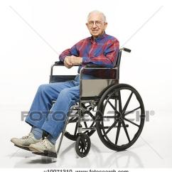 Wheelchair Man Brenton Studio Task Chair Portrait Of Caucasion Elderly Sitting In Smiling At Viewer