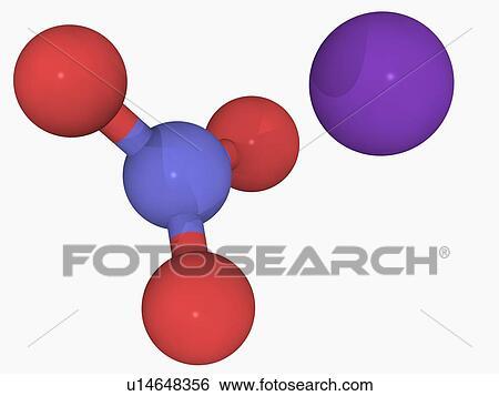 Potassium nitrate molecule Stock Illustration | u14648356 | Fotosearch