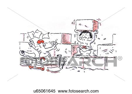 Stock Illustration of Unclear instructions, conceptual