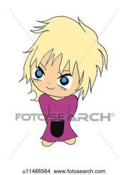 drawings of blond hair girl