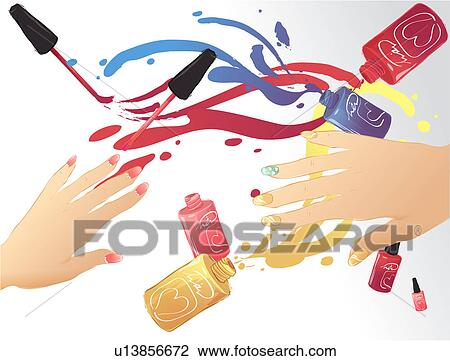 Clip Art Person Manicure People Lifestyle Nail Polish