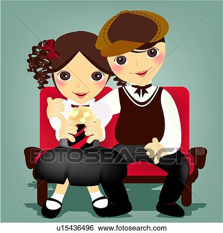 stock illustration of romantic
