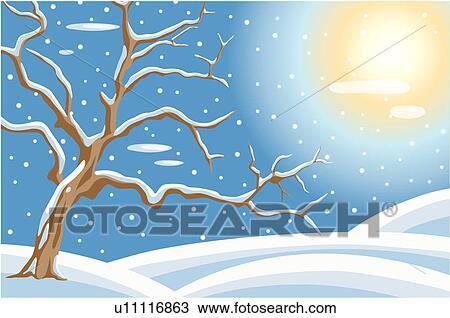Disegno  nevoso paesaggio u11116863  Cerca Clipart Illustrazioni Stampe di alta qualit