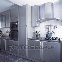 Slate Floor Kitchen Unfinished Oak Cabinets Home Depot 種類最齊全的圖像 牆騎在馬上 烤爐 在 現代 金屬 灰色 廚房 由于 板岩 地板派人守衛