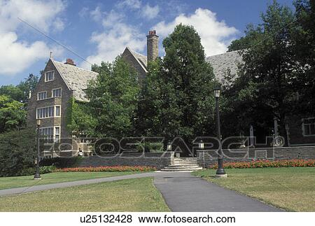 Cornell, university, Ithaca, NY, New York, Finger Lakes, Balch Hall on the campus of Cornell University. Stock Photo   u25132428   Fotosearch