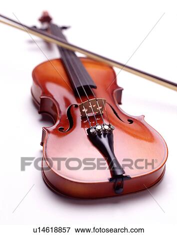 Violin with Bow Stock Photo | u14618857 | Fotosearch