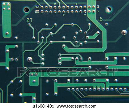 Close up of an integrated circuit board Stock Photography | u15081405 | Fotosearch