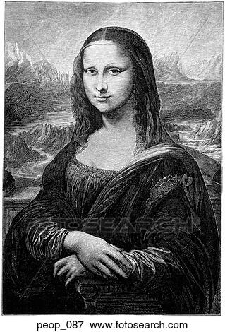 the mona lisa from