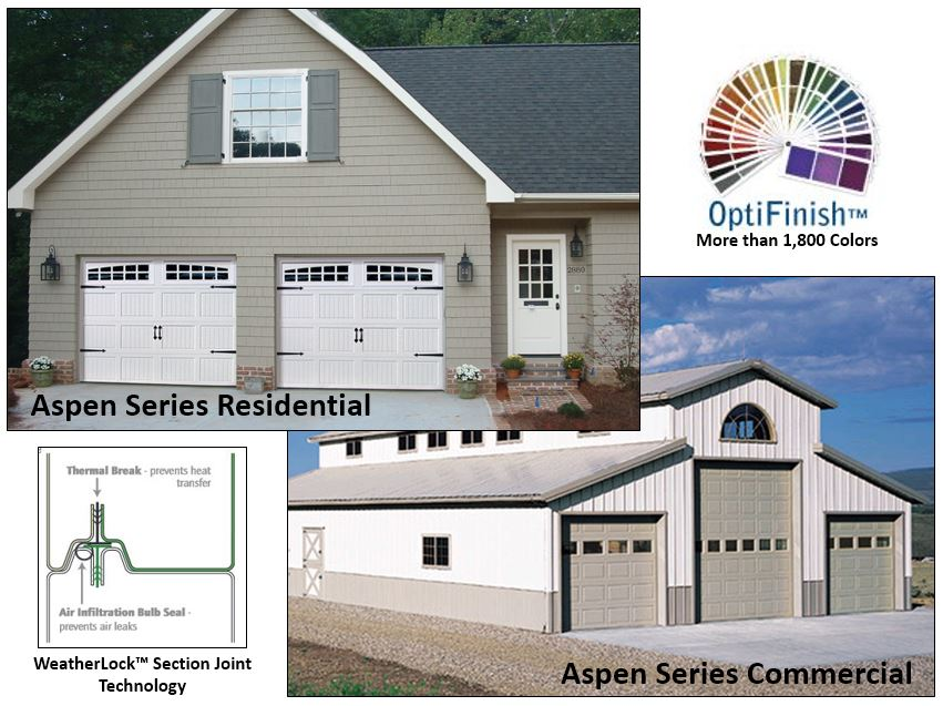 New Aspen Series Garage Doors Offer Energy Efficiency and Beauty  FS Construction Services