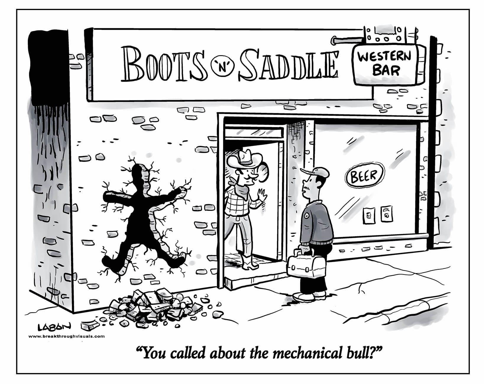 Comic Brake: Can You Blame the Bull?