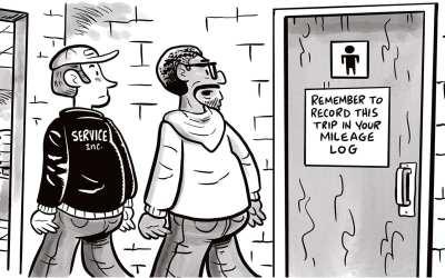 Comic Brake: Bathroom Pit Stop