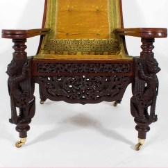 Plantation Style Chairs 2 Person Dining Table And 19th Anglo Indian Carved Or Planters Chair
