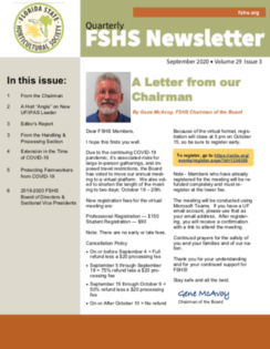 Newsletter – September 2020
