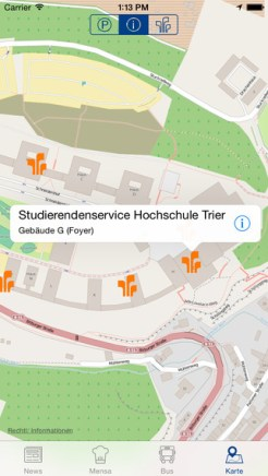 Der Campusplan mit Kontaktinfos