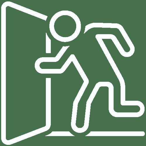 icone évacuation incendie
