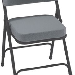 Cushioned Folding Chairs Ikea Acrylic Chair Padded Steel Fan Back