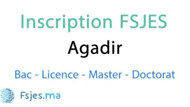 inscription FSJES Agadir 2020-2021