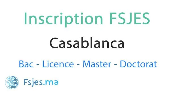 inscription FSJES Ain Chock Casablanca 2020-2021