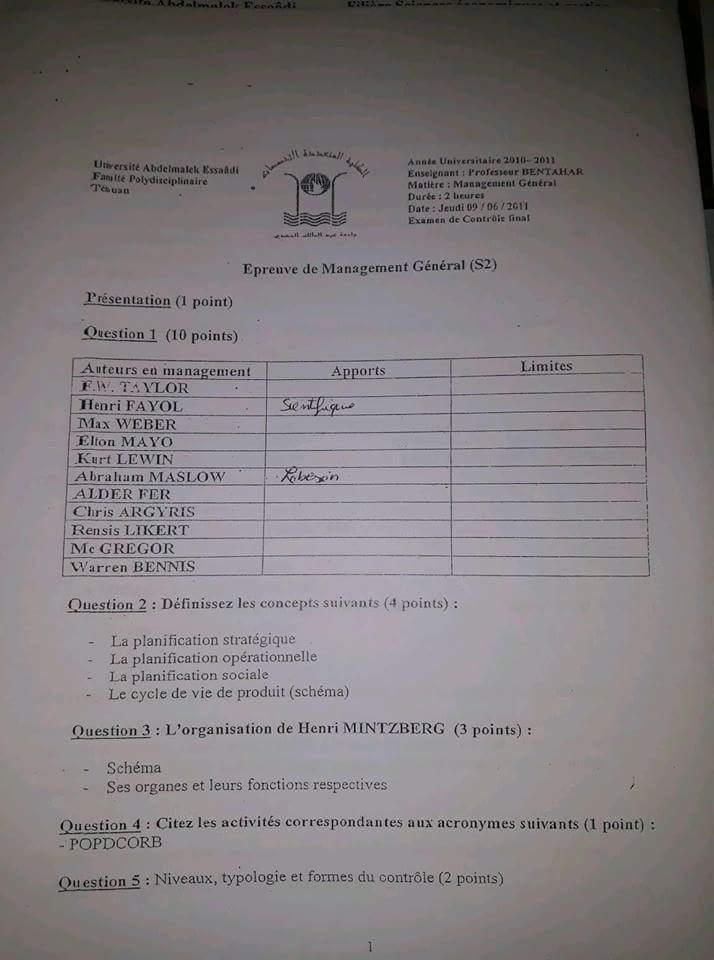 Examen 5 Management II