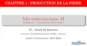 Production de la firme
