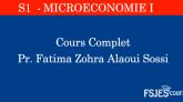 Cours de Microéconomie I