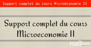 Microéconomie II
