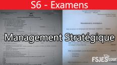 Management stratégique examens