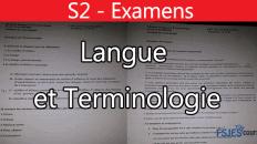 Examens Langue et Terminologie II