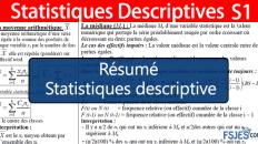 Résumé de Statistiques descriptive