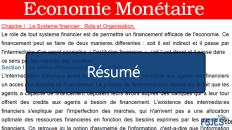 Résumé Economie Monétaire
