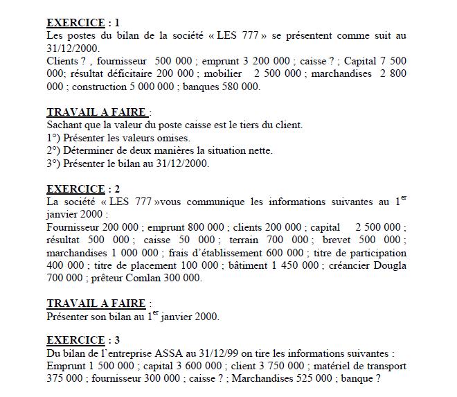 Exercices corrigés en comptabilité générale - FSJES cours
