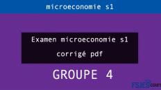 Examen microeconomie s1 gr4