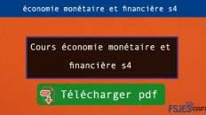 Économie monétaire et financière s4